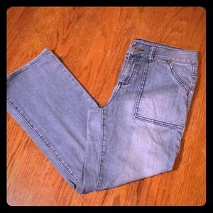 EUC Stretch denim crop pants